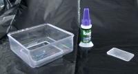 Feeder, glue, and tab